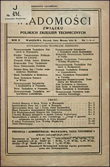Wiadomości Związku Polskich Zrzeszeń Technicznych 1926 nr 1-3