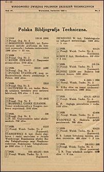 Wiadomości Związku Polskich Zrzeszeń Technicznych 1928 nr 4