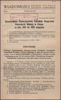 Wiadomości Związku Polskich Zrzeszeń Technicznych 1934 nr 2