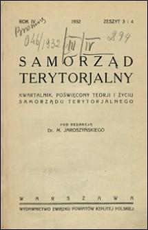 Samorząd Terytorialny 1932 nr 3-4
