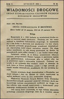 Wiadomości Drogowe 1931 nr 46