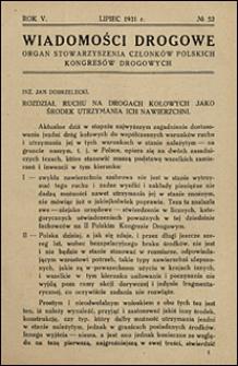 Wiadomości Drogowe 1931 nr 52