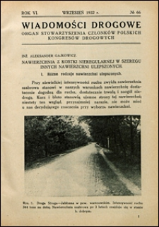 Wiadomości Drogowe 1932 nr 66