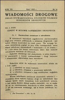 Wiadomości Drogowe 1933 nr 74