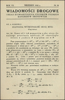 Wiadomości Drogowe 1933 nr 78