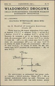Wiadomości Drogowe 1933 nr 79