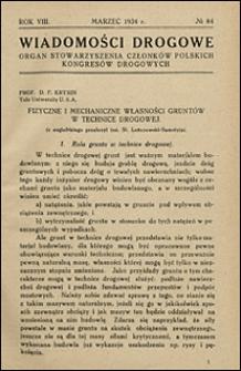 Wiadomości Drogowe 1934 nr 84