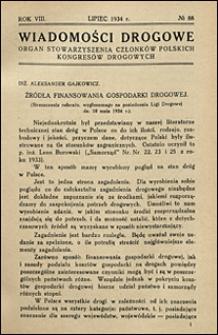 Wiadomości Drogowe 1934 nr 88