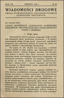 Wiadomości Drogowe 1934 nr 89