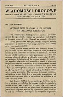Wiadomości Drogowe 1934 nr 90