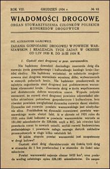 Wiadomości Drogowe 1934 nr 93