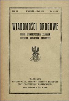 Wiadomości Drogowe 1935 nr 97-98