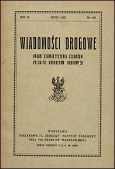 Wiadomości Drogowe 1935 nr 100