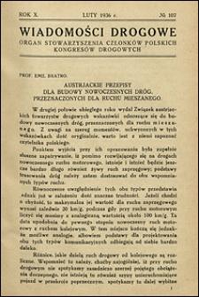 Wiadomości Drogowe 1936 nr 107