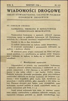 Wiadomości Drogowe 1936 nr 113