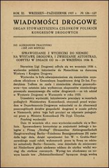 Wiadomości Drogowe 1937 nr 126-127