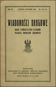 Wiadomości Drogowe 1938 nr 140-141
