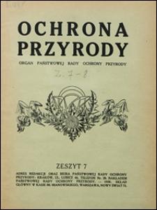 Ochrona Przyrody 1928 z. 7