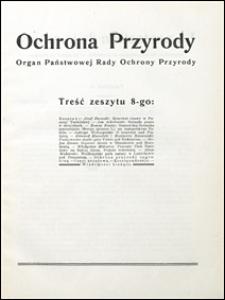 Ochrona Przyrody 1928 z. 8