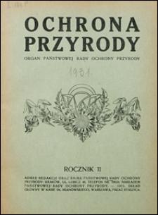 Ochrona Przyrody 1931 z. 11