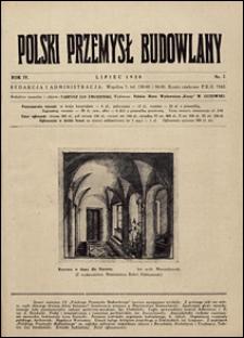 Polski Przemysł Budowlany 1928 nr 7