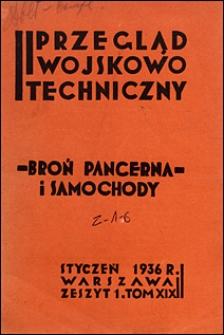 Przegląd Wojskowo-Techniczny 1936 nr 1
