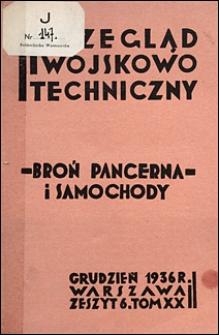 Przegląd Wojskowo-Techniczny 1936 nr 12