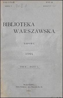 Biblioteka Warszawska 1901 t. 3 z. 1