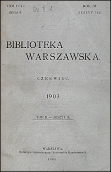 Biblioteka Warszawska 1903 t. 2 z. 3