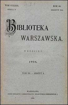 Biblioteka Warszawska 1906 t. 3 z. 3