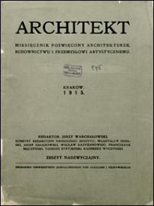 Architekt 1915 zeszyt nadzwyczajny