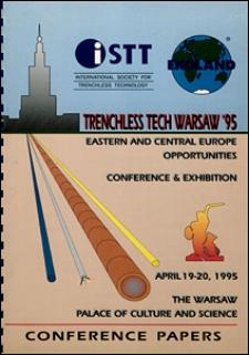 Technologie bezwykopowe Warszawa '95 : międzynarodowa konferencja połączona z wystawą : Warszawa 19-20 kwiecień 1995