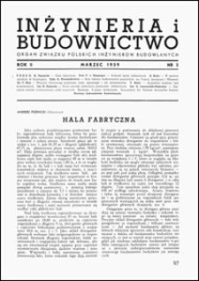 Inżynieria i Budownictwo 1939 nr 3