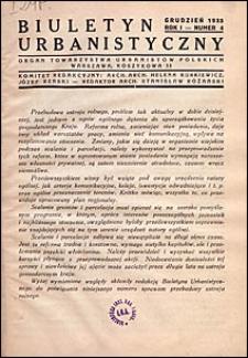 Biuletyn Urbanistyczny 1933 nr 4