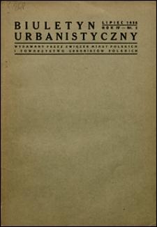 Biuletyn Urbanistyczny 1936 nr 2