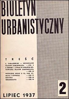 Biuletyn Urbanistyczny 1937 nr 2