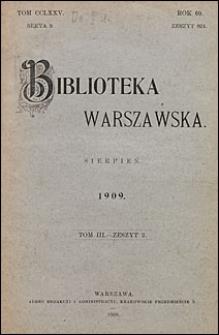 Biblioteka Warszawska 1909 t. 3 z. 2