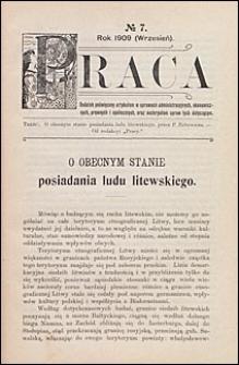 Biblioteka Warszawska 1909 t. 3 nr 7 dodatek
