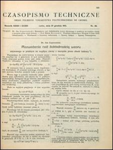Czasopismo Techniczne 1915 nr 30