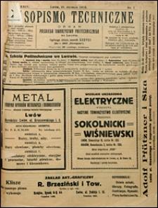 Czasopismo Techniczne 1916 nr 1