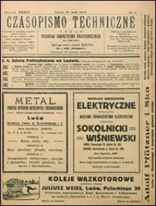 Czasopismo Techniczne 1916 nr 5