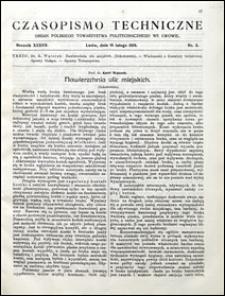 Czasopismo Techniczne 1919 nr 3