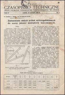 Czasopismo Techniczne 1939 nr 4