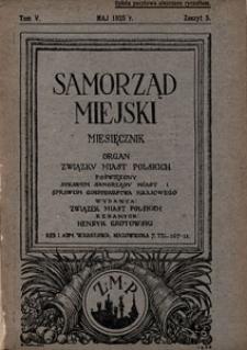 Samorząd Miejski 1925 z. 5