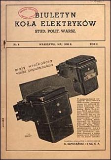 Biuletyn Koła Elektryków Studentów Politechniki Warszawskiej 1938 nr 4