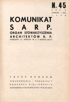 Komunikat SARP-u 1938 nr 4/5