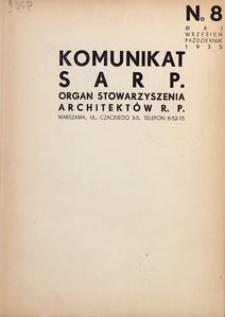 Komunikat SARP-u 1935 nr 8