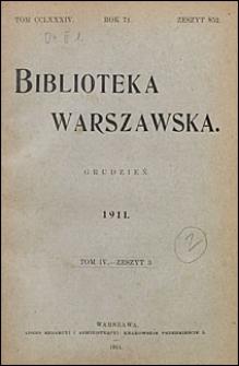 Biblioteka Warszawska 1911 t. 4 z. 3