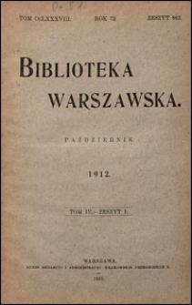 Biblioteka Warszawska 1912 t. 4 z. 1