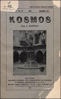 Kosmos 1929 nr 3-4. Seria A. Rozprawy
